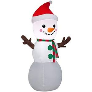 Inflatable Christmas Snowman Lights Up Yard Decor